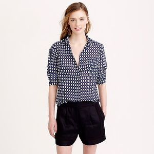 J. Crew Tops - J. Crew Boy Shirt in Jet-Set Geo Print Button Down